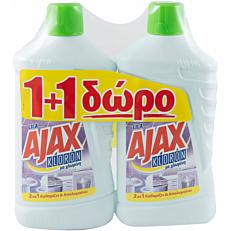 Καθαριστικό AJAX για το πάτωμα kloron lila, υγρό 1+1ΔΩΡΟ (2x1lt)