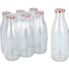 Μπουκάλι γυάλινο με καπάκι 1lt