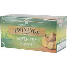Τσάι TWININGS πράσινο τσάι με τζίντζερ (25τεμ.)