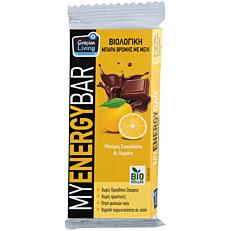 Μπάρα GRECIAN LIVING βρώμης με μέλι, μαύρη σοκολάτα και λεμόνι βιολογική (bio) (40g)