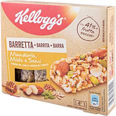 Μπάρες δημητριακών KELLOGG'S με αμύγδαλα και μέλι (4x32g)