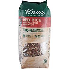 Ρύζι ΚΝORR κόκκινο με μπρόκολο και αμύγδαλο (550g)