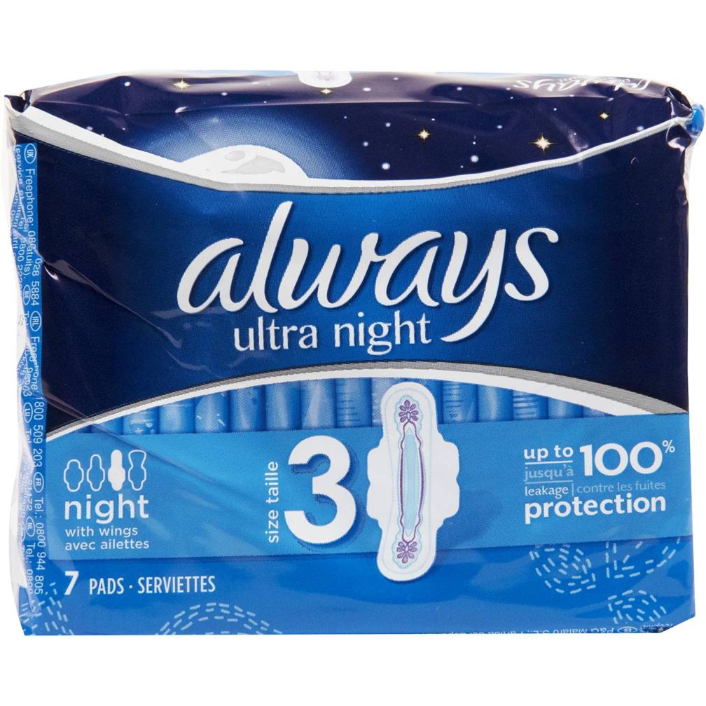 b9f4cde90d01 Σερβιέτες always ultra night με φτερά (7τεμ.)