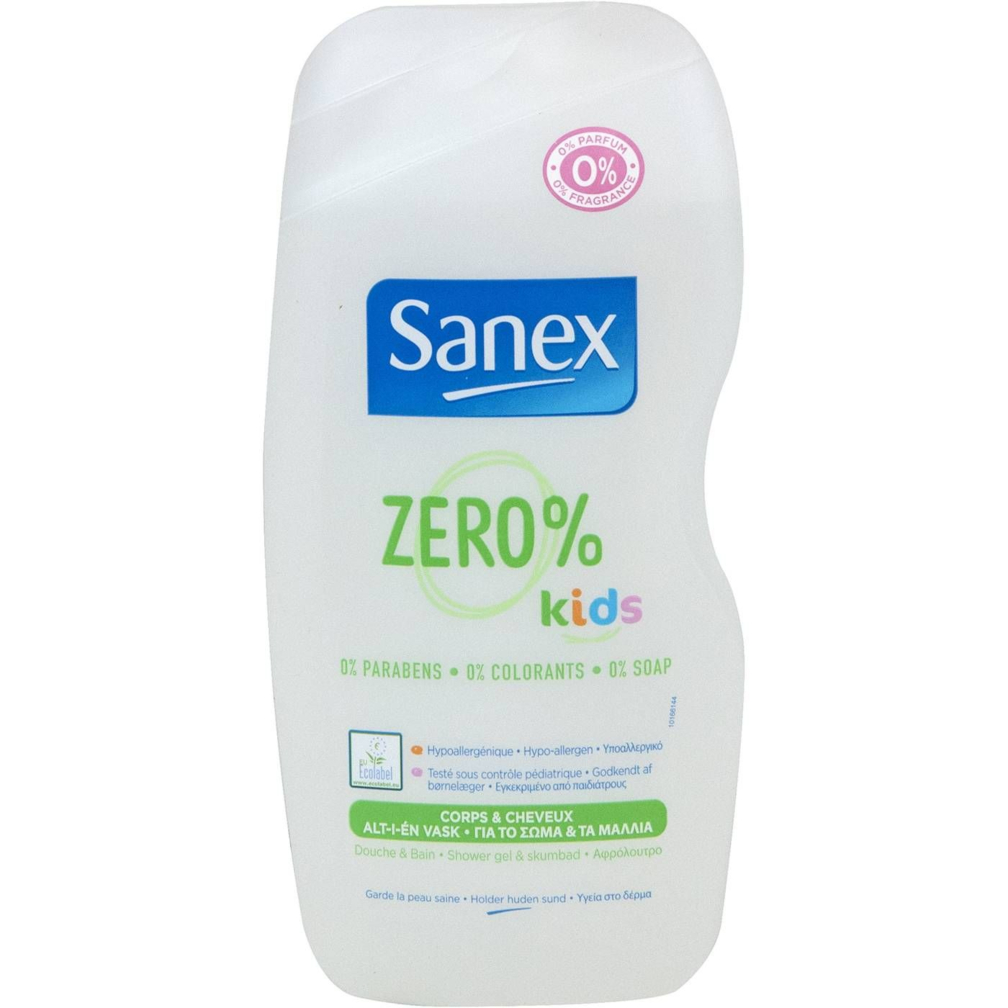 Παιδικά Βρεφικά σαμπουάν SANEX Zero kids και αφρόλουτρο (500ml ... 3c291149ed0